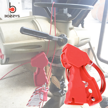 Multi function grip type rope lock Steel cable lock Stainless steel insulated cable lock Valve lockout Safety locks BD-L01