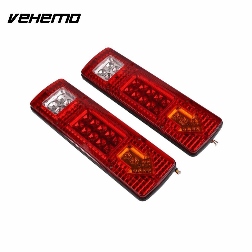 Vehemo 2 шт Водонепроницаемый светодиодный Автомобильный прицеп задний хвост свет грузовик Караван поворота сигнала стоп-Индикатор 24В 5Вт