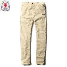 Fredd Marshall 2017 Nuovo di Modo Della Rappezzatura di Colore Solido Lavato Casual Pantaloni Uomo Etero Pantaloni di Cotone di Marca Uomo Pantaloni Lunghi 3513