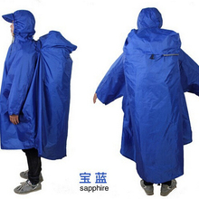 Backpack Cover One-piece Raincoat Poncho Rain Cape Outdoor Hiking Camping Unise NL151