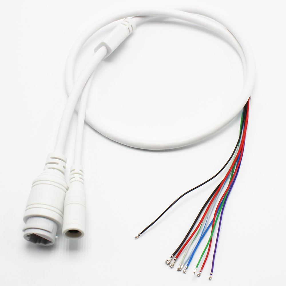 Lan Cable 9 Pin Ip Camera Module Network Cable Pigtail 11 Pin For Poe Camera 80cm Poe Rj45 Dc12v