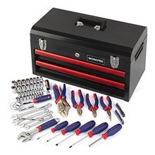 WORKPRO 76PCS  Repair Tool Kit Heavy Duty Metal Box with Tool sets