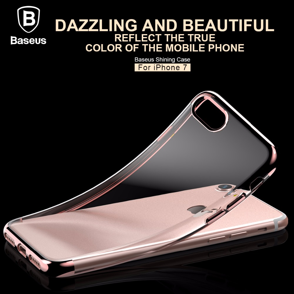 Baseus Sky Case For Iphone 7 Cover Clear Phone Se 5s 5 Plus Shining Anti Scr