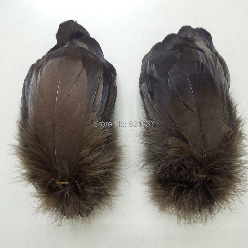 200pcs/lot!12-20cm long Dark Brown Loose Goose Nagoire Feathers Perfect for crafts,costume design,headbands,hair fascinators