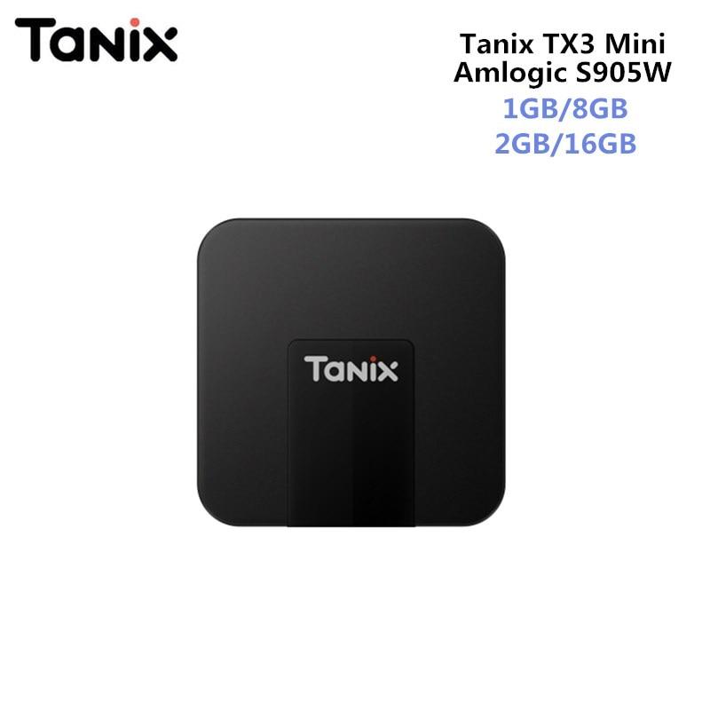 Original TANIX TX3 MINI Android 7.1 Smart TV BOX Amlogic S905W Quad-core CPU 4 karat Quad Core Set Top box 2 gb/16 gb Unterstützung HDMI 2,0