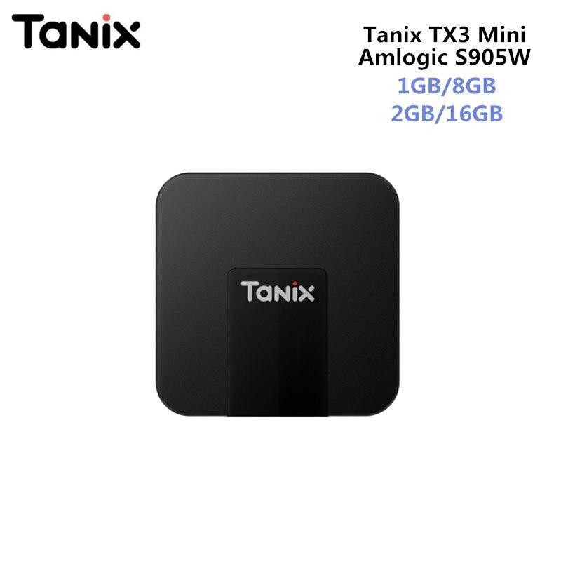 Originale TANIX TX3 MINI Android 7.1 Smart TV BOX Amlogic S905W Quad-core CPU 4 K Quad Core Set Top Box 2 GB/16 GB Supporto HDMI 2.0