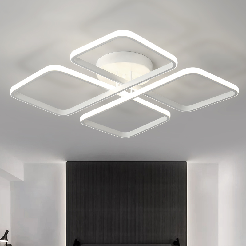 New Design Modern Led Ceiling Lights For Living Room Bedroom White or Black Aluminum Home Ceiling lamp lamparas de techo modern simple black and white lines living room led acrylic ceiling lamp bedroom study ceiling light lamparas de techo luminaire
