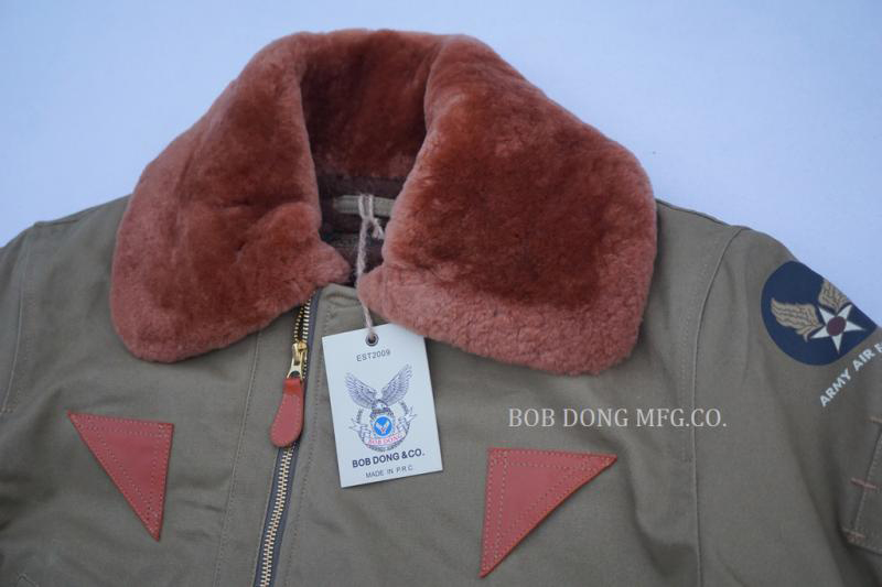 Image 3 - BOB DONG B 15A Flight Jacket For Men USAF Air Force Military Uniform Bomber B15-in Jackets from Men's Clothing