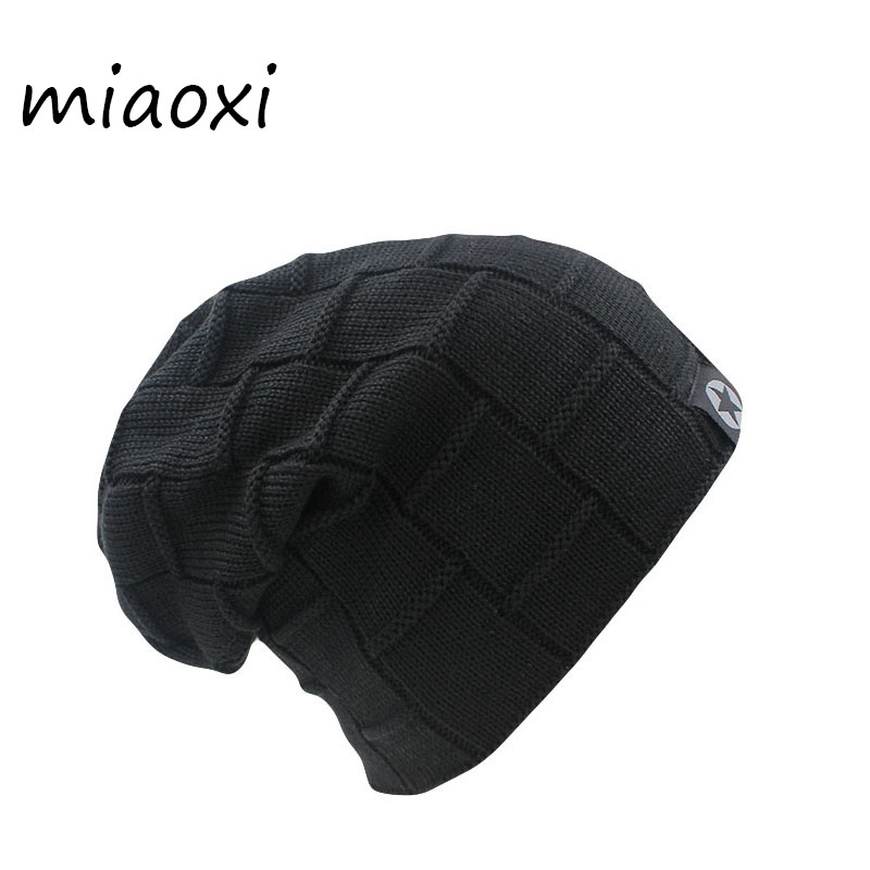 miaoxi Top Sale New Arrival Women Men Knits Winter Warm Hat 6 colors Female Autumn Hats Elastic Wool Cotton Gorro Casual Caps