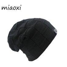 Miaoxi Spitzenverkauf Neue Ankunft Frauen Männer Stricken Winter Warme Mütze 6 farben Weibliche Herbst Hüte Elastische Wolle Baumwolle Gorro Beiläufige Kappen