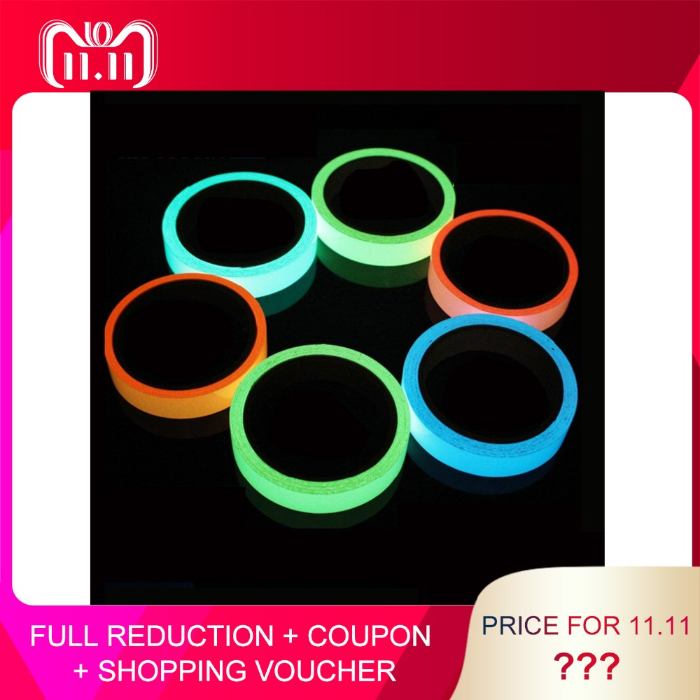 Hot Sales Colorful Reflective Tapes Glow Self-adhesive Sticker Luminous Fluorescent Glowing Tapes Dark Striking Warning Tape Back To Search Resultssecurity & Protection