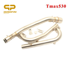 Motorcycle Exhaust Middle Pipe Escape Muffler Connect Link For Yamaha Tmax 500 530 2008 2009 2010 2011 2012-2016