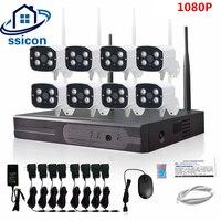 SSICON 2MP HD CCTV Системы 1080 P 8CH Беспроводной NVR комплект Открытый ИК Ночное видение IP Wi Fi Камера безопасности Системы наблюдения 1 ТБ HDD