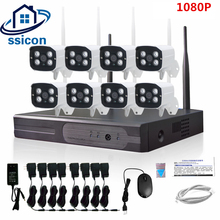 SSICON 2MP HD CCTV System 1080P 8CH Wireless NVR Kit Outdoor IR Night Vision IP Wifi Camera Security System Surveillance 1TB HDD 960p hd outdoor ir night vision home video surveillance security ip camera wifi cctv kit 4ch wireless nvr system 1tb hdd
