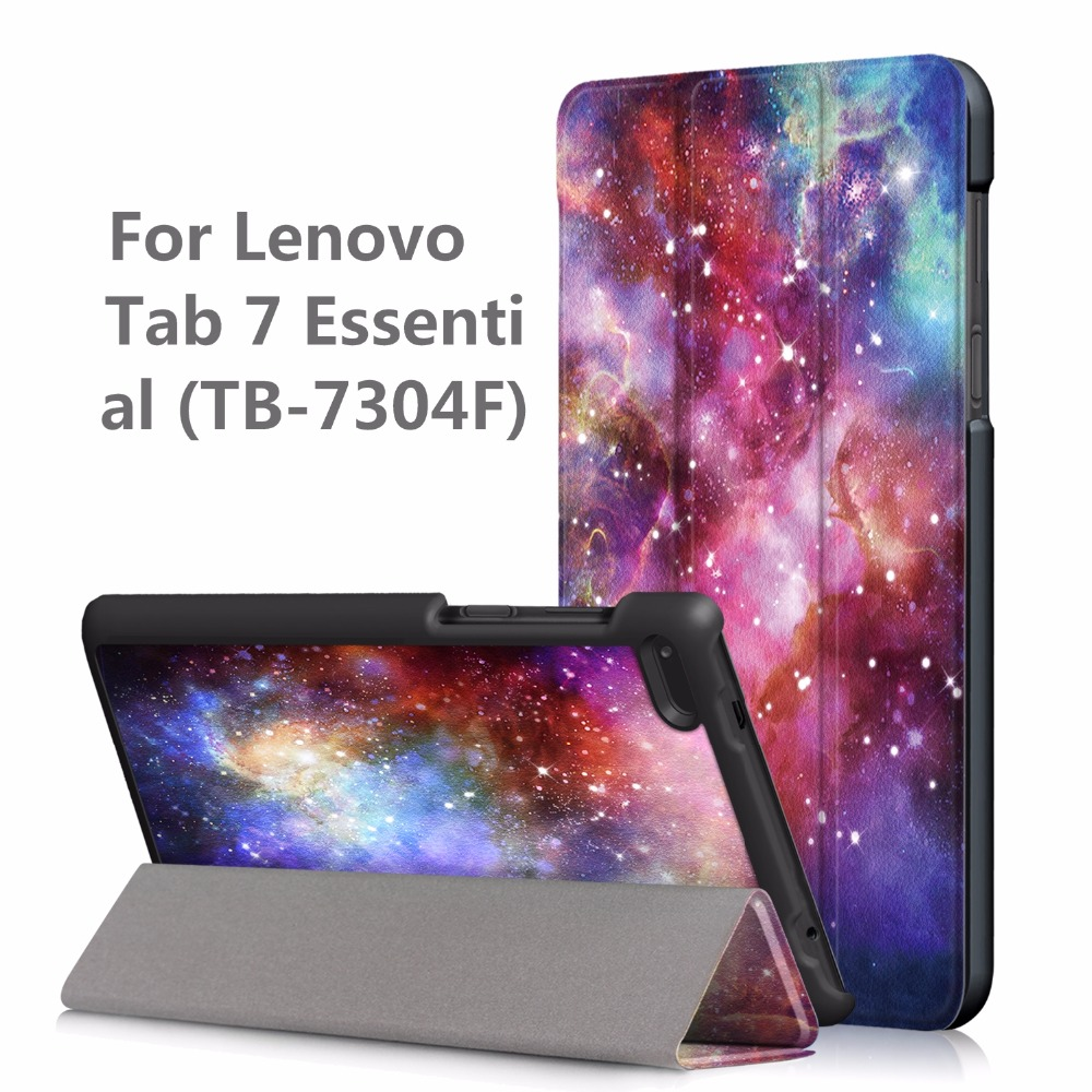 Smart PU Leather Cover Case for Lenovo Tab 7 Essential TB-7304F 7304I 7304X (2017 Release) Printed Folio Smart Case + Gift pu case cover for lenovo tab 7 essential tb 7304 tb 7304f tb 7304ntb 7304x 7 2017 release flip case for lenovo tab4 essential