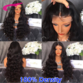 180 Density Full Lace Wigs Wavy Glueless Virgin Peruvian Full Lace Human Hair Wigs With Baby Hair For Black Women Lace Front Wig