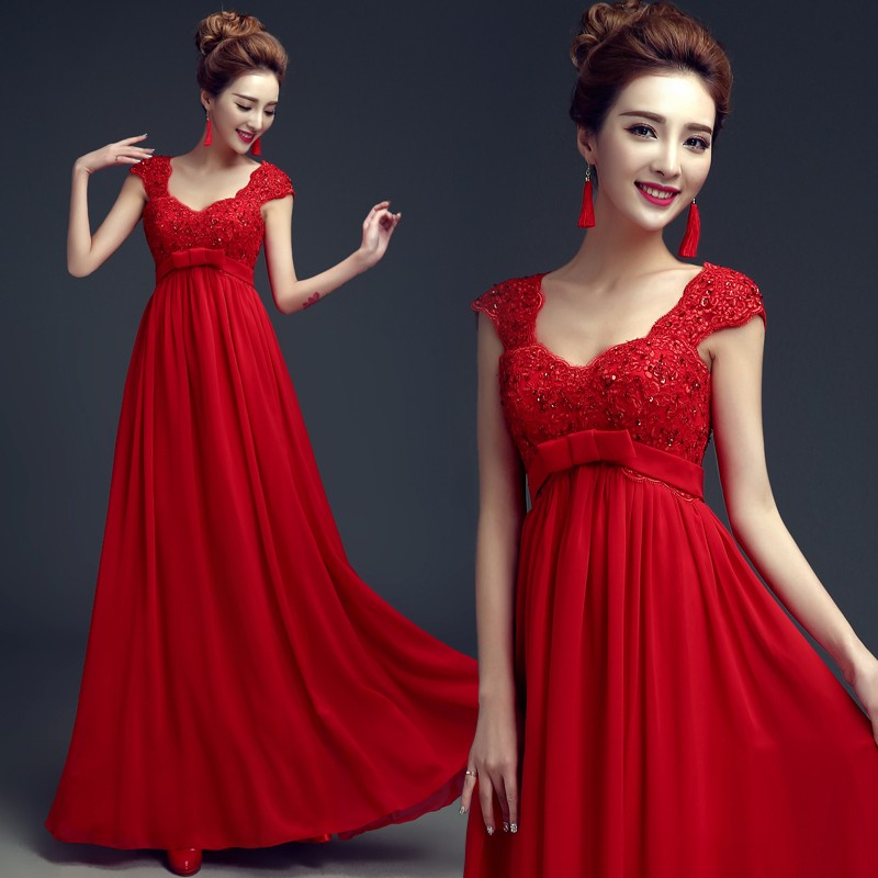Mother Of The Bride Dress 2018 New Long Red Evening