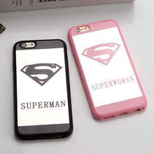 Jamular Cell Phone Mirror Case For iPhone 5 5s SE X Superman Soft Silicone Phone Case
