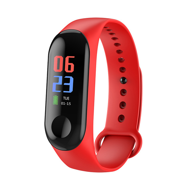 2019 New Stylish M3 Smart Watch Heart Rate Monitor Fitness Tracker Color Screen Blood Pressure Pedomater Smartband For Women Men