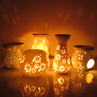 White Fashion Ceramic Water Bowl Essential Oil Aromatherapy Lamp Incense Burner Furnace Candle Home Fragrance Free