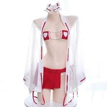 Nữ Anime Ngoại Cảm Trang Phục Hóa Trang Kimono Nhật Bản Phù Thủy Bộ Đồng Phục Bikini Áo Lót Nữ Hóa Trang Halloween