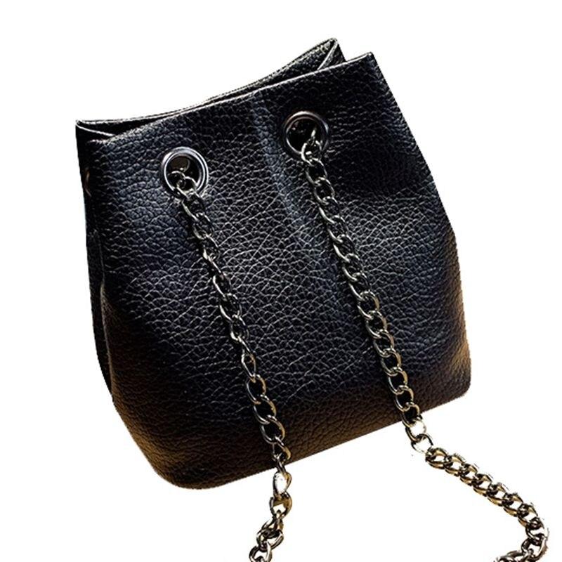 2017 spring and summer fashion chain bucket bag shoulder bag messenger bag mini