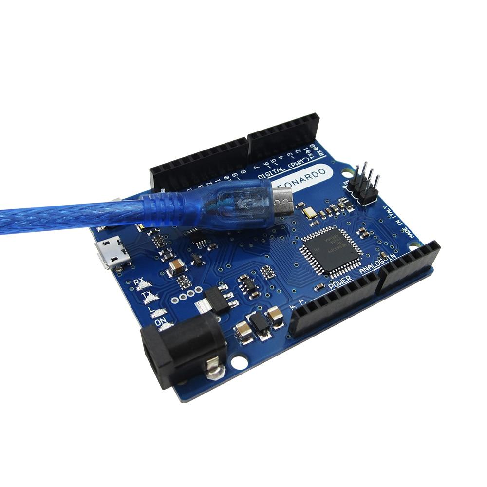 10 set/lotto Leonardo R3 di sviluppo board + Cavo USB (con il marchio)