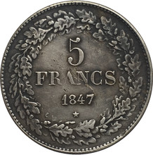 1847 Belgium 5 Francs Silver Coins Copy(China)