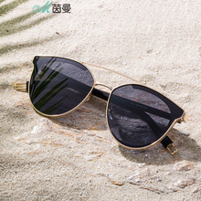INMAN 2019 New Arrival Metal Frame Polarized  Women Cool Sun glasses All Matched Transparent Lens Sunglasses