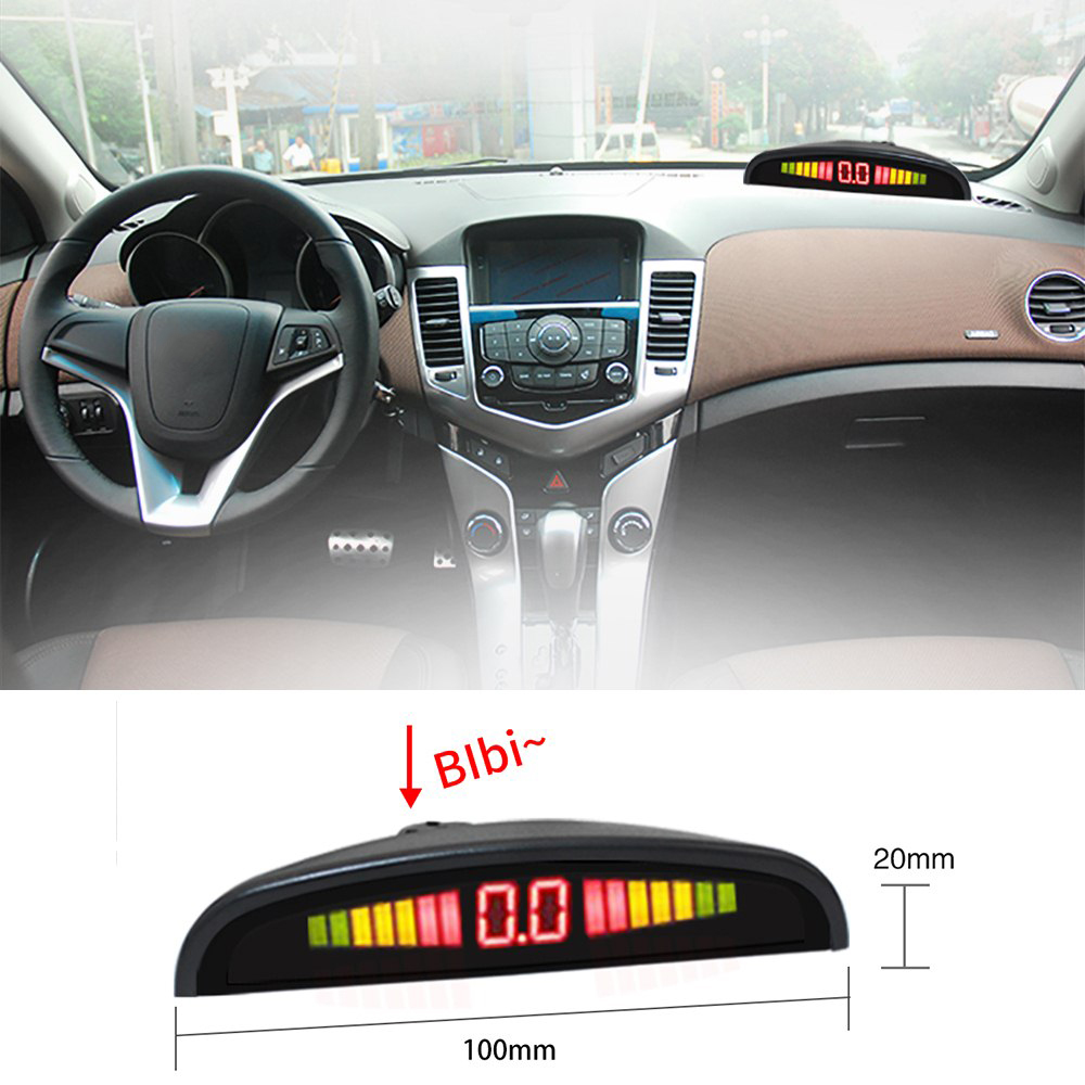 Image 2 - 1 Set Universal Car Parking Sensors LED Display Auto Parking Radar with 4pcs 22mm Sensors Reverse Detecting System-in Parking Sensors from Automobiles & Motorcycles