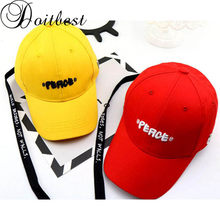 Doitbest 2 to 8 Years ribbon Child Baseball Cap Hip Hop Spring PEACE letter kids Sun Hat summer Boys Girls Caps snapback hats(China)