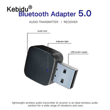 kebidu 2 IN 1 Bluetooth Transmitter Receiver 3.5mm Wireless Adapter Bluetooth 5.0 Stereo Audio Dongle For TV Car /Home Speakers