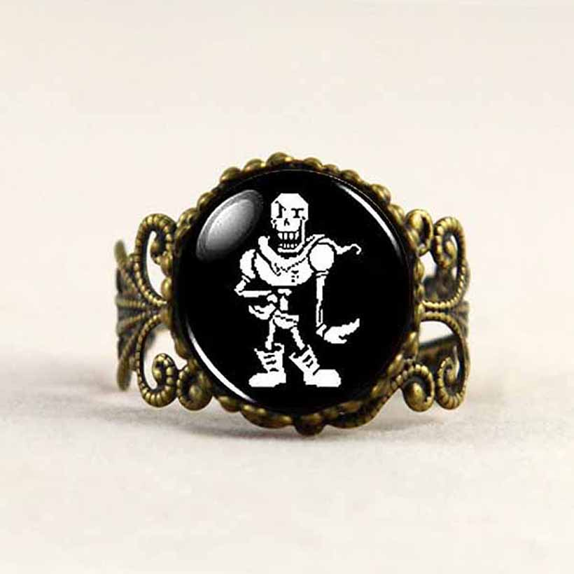 antique Undertale Papyrus Game Gamer Gaming Mens Handmade Fashion brass silver steampunk Jewelry fasns Gift womens toy 20cm 2016