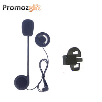 1 set Earphone&Clip for KIE Intercomunicador Bluetooth Para Motocicleta BT Bluetooth Motorcycle Helmet Intercom Headset image