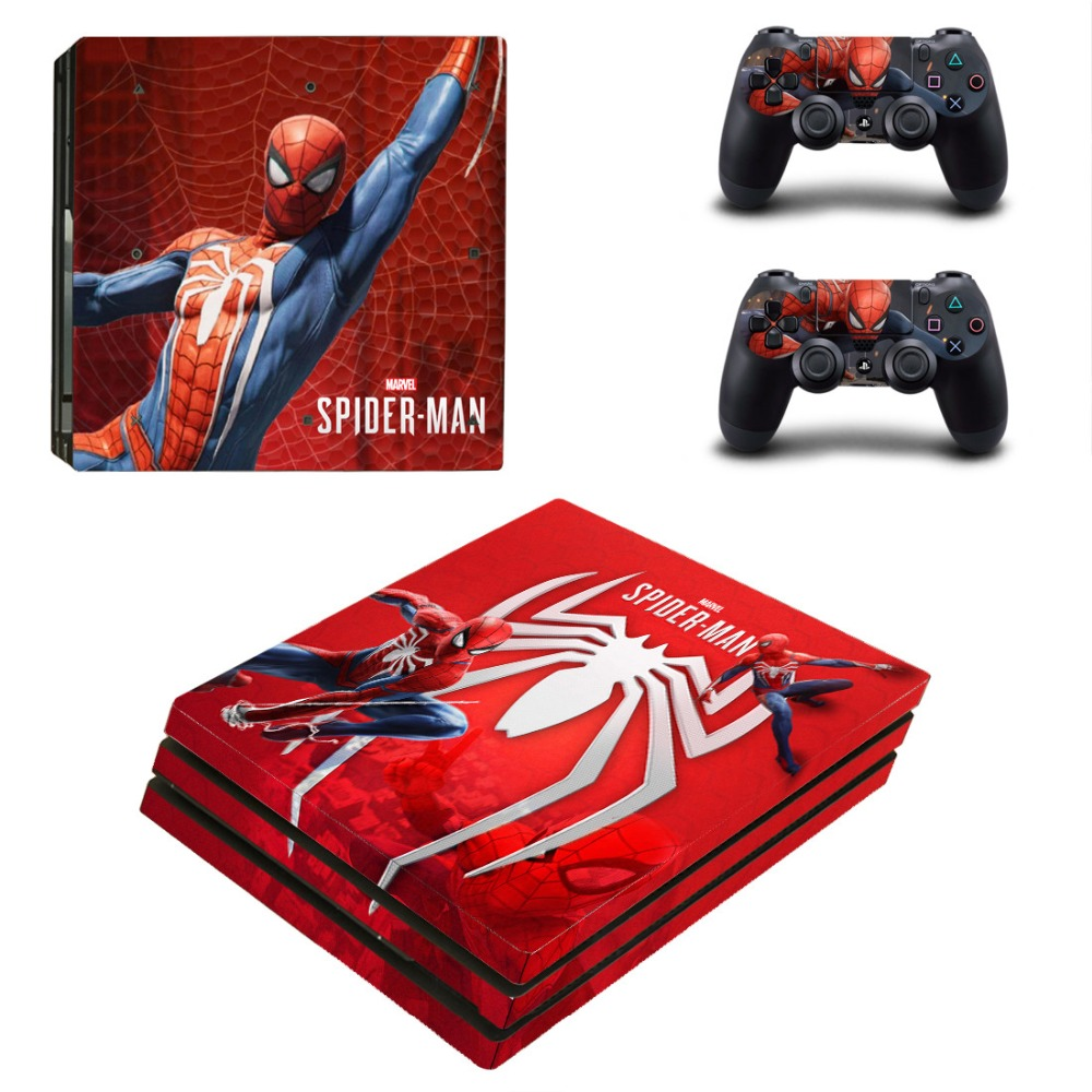 Decal Sticker Skin Vinyl Spiderman Playstation 2-Controllers Ps4 Pro Sony for And