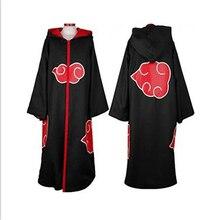 High-Quality NARUTO Akatsuki Uchiha Sasuke Black Overcoat Windbreaker Men&ampWomen Cosplay Halloween Costume
