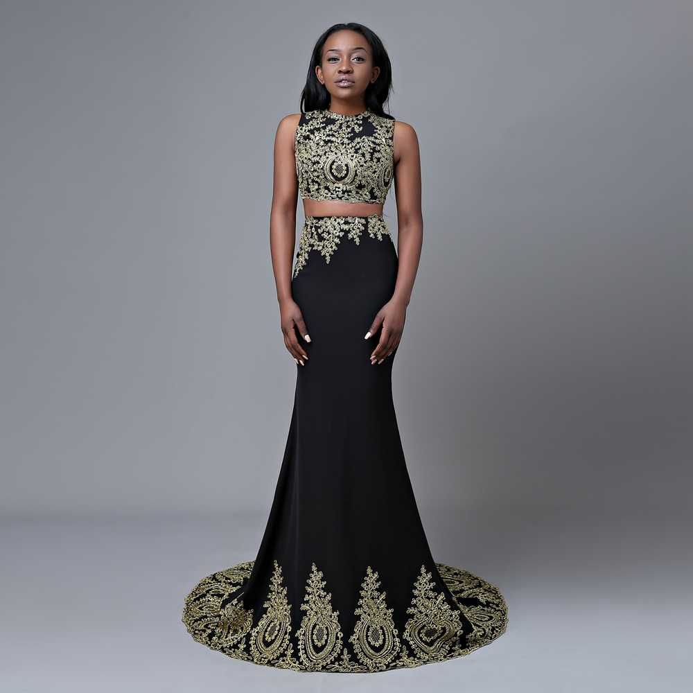 78c1576bf4e2 ... Original Picture Long Prom Dresses 2019 Mermaid Top Lace Floor Length  African Black Two Piece Prom ...