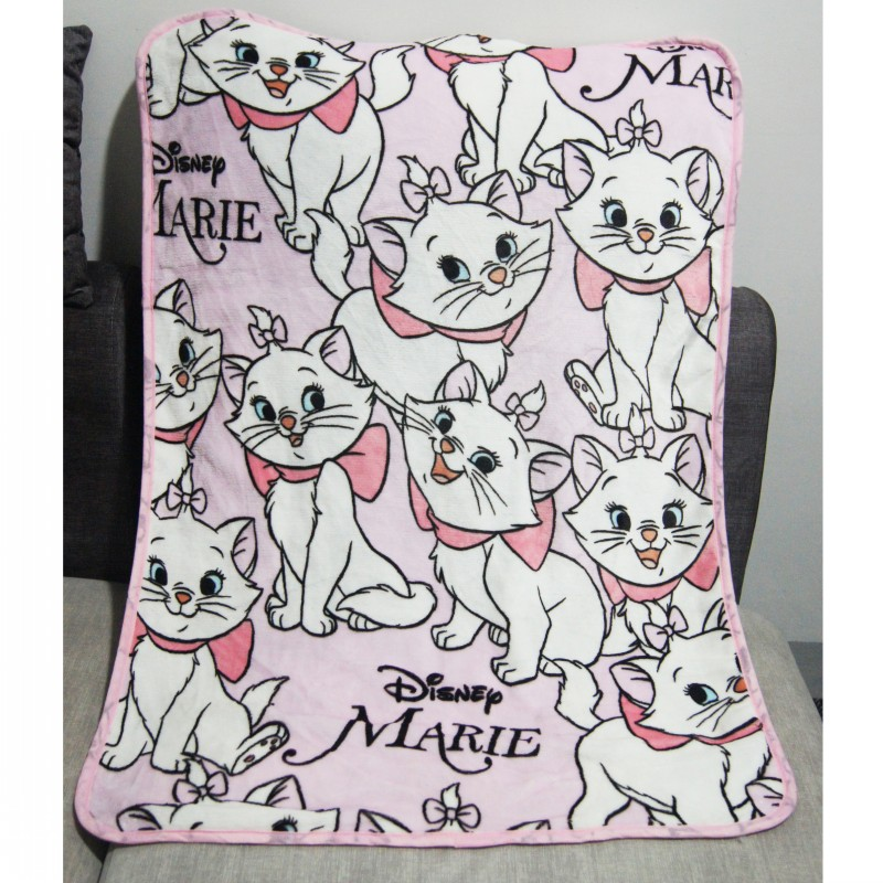 Disney Light Pink Double Side Marie Cat Small Size Blanket Throw 80x110cm For Baby Boys Girls Pet On Bed/Sofa/Crib/Plane