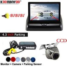 Koorinwoo Auto Sensori Buzzer Distanza Mostra sulla Digitale 4.3 pollice Schermo del Monitor Video Sysitem RCA di Ingresso auto macchina fotografica di retrovisione kit