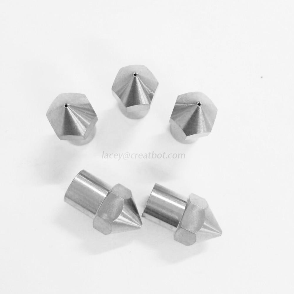 ( 5 pcs/ lot) 0.6mm Stainless Nozzle Long extruder head Original CreatBot Printer Parts