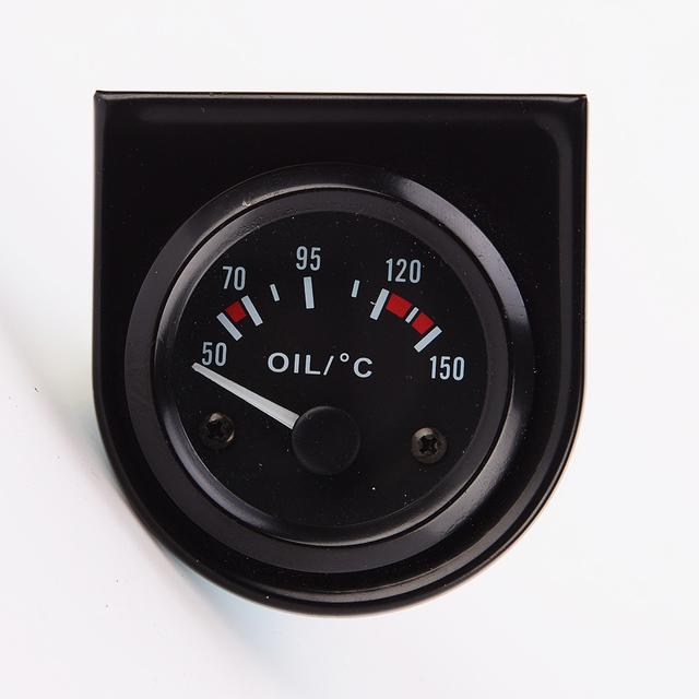 "2"" 52mm 12V Universal Car Pointer oil Temperature Temp Gauge 40-120 White LED"