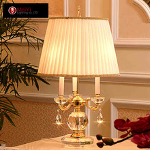 2015 Seconds Kill Time-limited Freeshipping Glass Crystal Table Desk Lamp Chandelier Lighting Quality Bedroom Bedside Lamps Z130