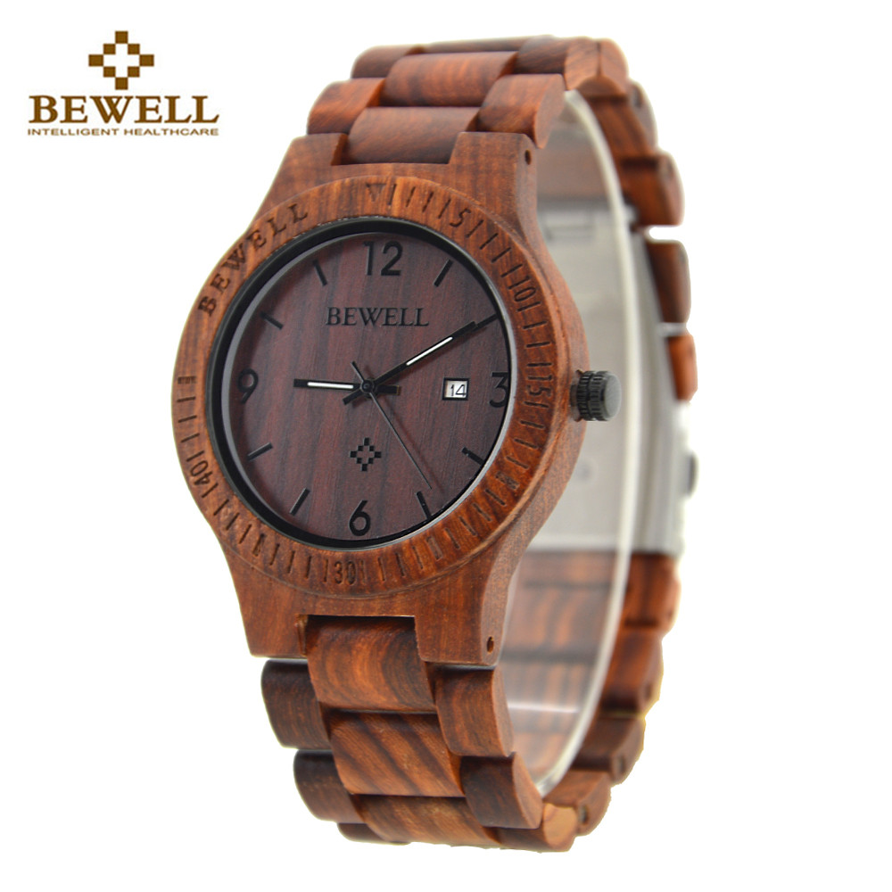 Newest BEWELL Luxury Brand Pair of Couple Quartz Watch Waterproof Calendar Men Women Wood Watch Lover's Wristwatches relogio bewell men stylish luxury business black wood watch calendar life waterproof watch analog quartz movement male wristwatches 109a