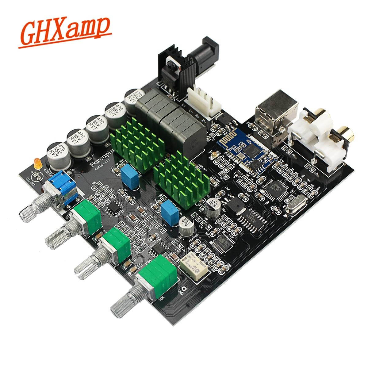 GHXAMP TPA3116 Bluetooth 5.0 amplificateur de puissance numérique carte USB décodage PCM5102A Subwoofer avec carte son 100 W * 2