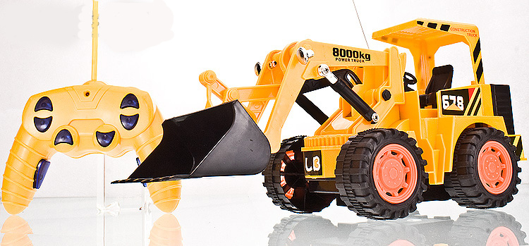 Free Shipping big size RC bulldozer cars toys for children Remote control 6 Channels truck best gift for kids