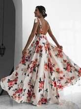 Женское богемное длинное платье макси женское элегантное с открытой
