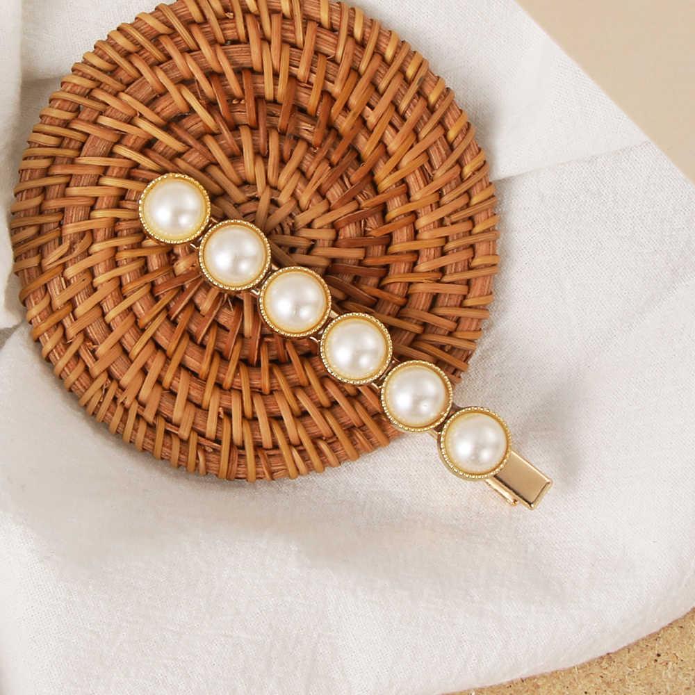 Новые популярные заколки для волос женские элегантные перламутровые Заколки Принцесса Ретро Золотой Серебряный заколка головной убор