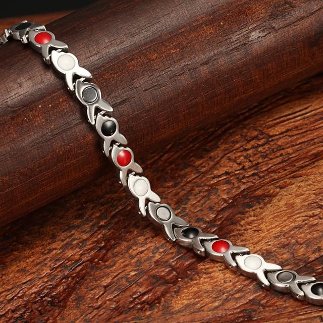 Купить магнитные браслеты welmag для улучшения кровообращения из нержавеющей