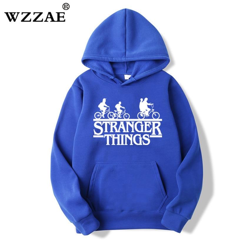 Trendy Faces Stranger Things Hooded Hoodies and Sweatshirts 52