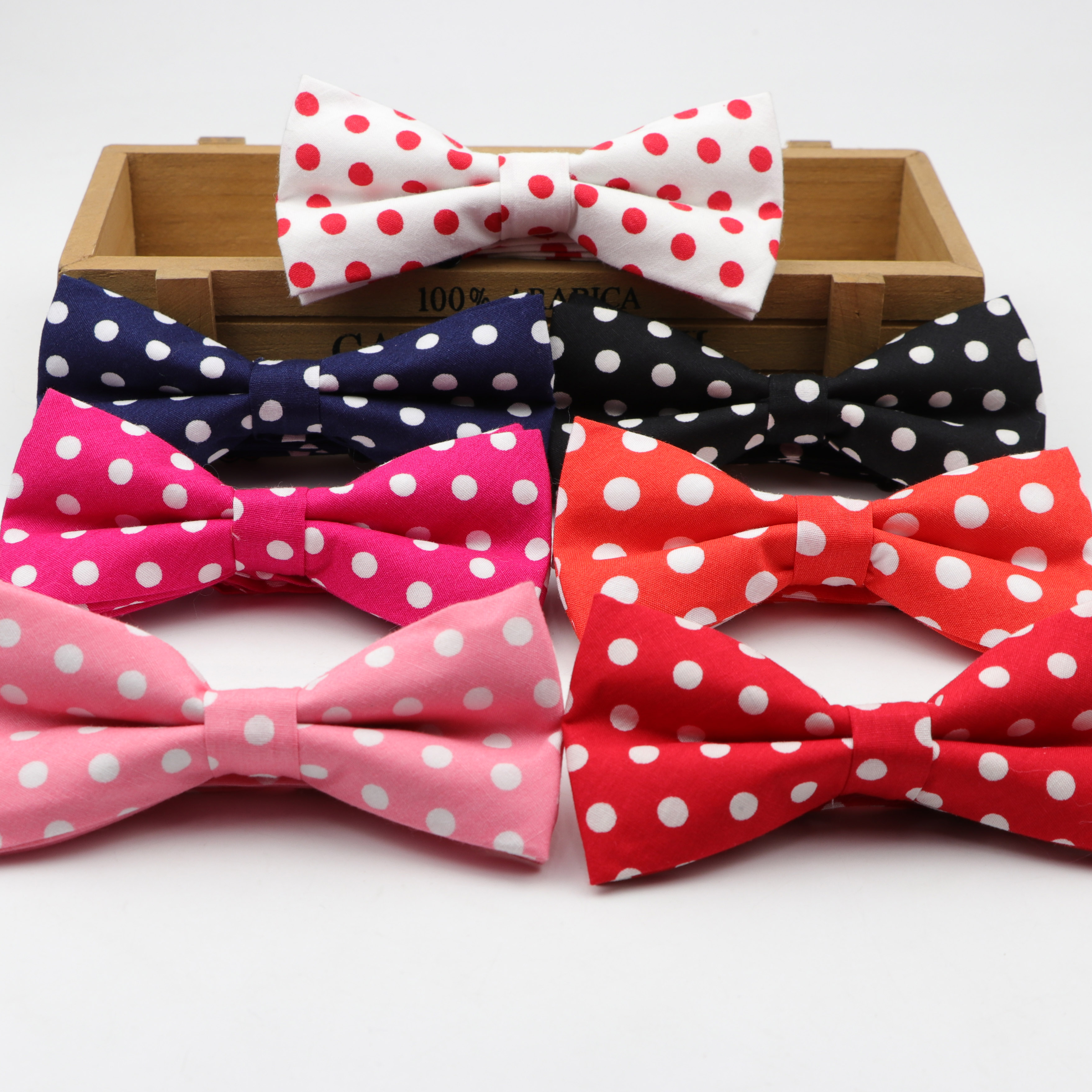 Dot Cotton Bowtie Wedding Casual Butterfly Business Bow Tie Colorful Neck Ties Women Skinny Gravatas Cravat